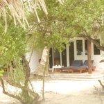 Unser Beachbungalow, ca. 10 Meter vom Strand entfernt