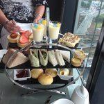 Afternoon tea for 3! Full to the brim after all these goodies :)