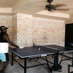 Table Tennis fun at the pool!