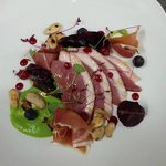Duck and beetroot salad