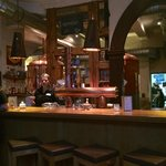 The bar at the Brauhaus. You can have your meal here to.