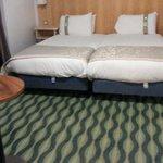Huge twin beds