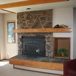 timed gas fire place
