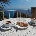 Breakfast on our balcony!