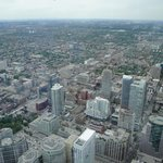 View from CN Tower - HGI is the red building in the middle of the pic
