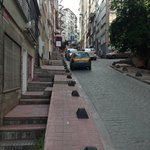 Short Steep Street going to Istiklal or Taksim