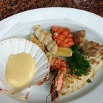 Grilled seafood mix