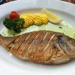 A tasty fish from the menú.