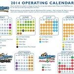 2014 Operating Calendar