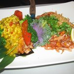 Salmon Filet with Mango Salsa & Pad Thai