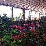 Открытая веранда основного ресторана