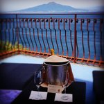 The view towards Vesuvius from our terrace