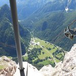 View from Marmolada cable car