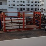again more building materials delivered just outside our room