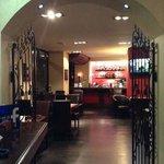 The door into restaurant.
