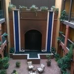 A view of the courtyard from the floor we stayed on