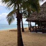 Bungalow et plage