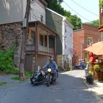 riding through the town of Jim Thorpe