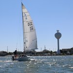 Under Sail - Banks Channel, WB Water Tower