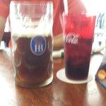 1 liter beer! (and coke)