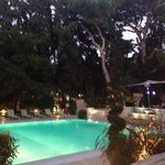 Pool by Night - the restaurantview