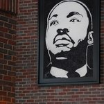 Martin Luther King, Jr. -- artwork on the wall