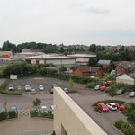 View over car park