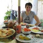 colazione a casa della sorella di delia