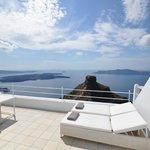 View of Skaros rock from honeymoon suite