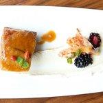 Pork Belly with tahini tofu sauce & ginger caramel