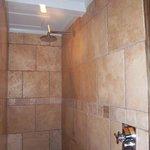Large walkin shower of Suite