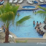 view of the swim-up bar from the room