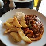 King prawn curry and rice !!!   Yum yum