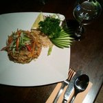 Phad Thai with beef.