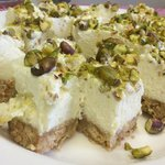 Our pistachio and lemon cheesecake