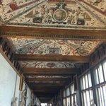 Роспись на потолках галереи Уффици