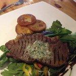 Yummy steak, potatoes were lovely ��