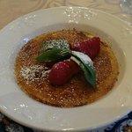 Honey cake creme brulee