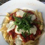 Tomato mozzarella pasta