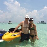 Kayak & paddle boarded to Crab Island