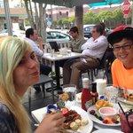 Jasmine & Joseph enjoy the best breakfast in Southern California. :)