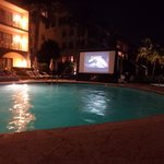 Movie night at the pool.