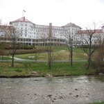 the back of the hotel from the golf course