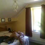 our room with double pitched roof areas