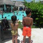 Pool side fun