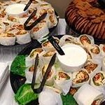 Catering Favorite: A Large Tray of Garlic Chicken Wraps