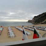 View from balcony to the Nazaré beach