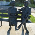 Mabel and Alexander Graham Bell - just a few steps away