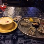 Lobster stew and oysters delicious!