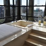 Ótimo, até no banho a vista é incrível, fiquei fascinado